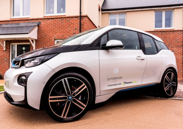 One of the new electric cars in the new e-car fleet for Elmsbrook development in Bicester