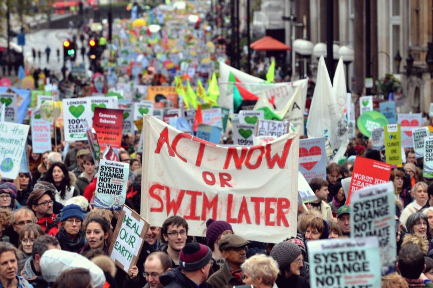 Climate march in London (Image: 350.org)