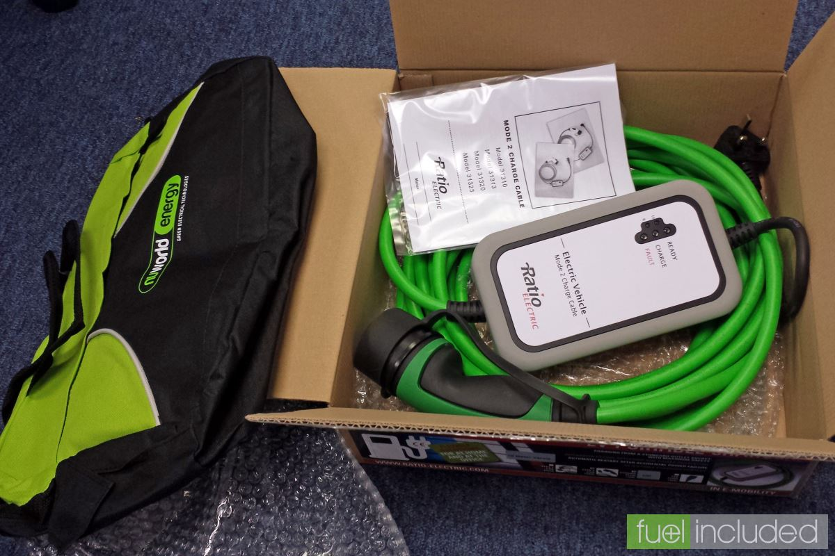 The Ratio Electric Type 2 granny cable and storage bag (Image: T. Larkum)