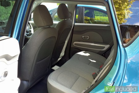 Soul EV rear passenger compartment (Image: T. Larkum)