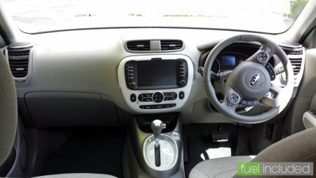 Soul EV driver's position (Image: T. Larkum)
