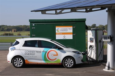 2016 -Connected Energy Ltd E-Stor and Renault ZOE (Image: Renault)