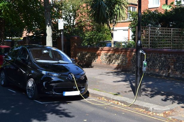 Hundreds of electric car charging points like this one are set to be installed at lampposts across Hounslow