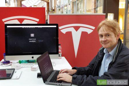 Registering for my Tesla Model 3 (Image: T. Larkum)