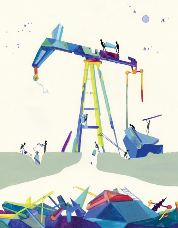 We Need to Keep 80 Percent of Fossil Fuels in the Ground (Image: Yes!/J. Eckwell)