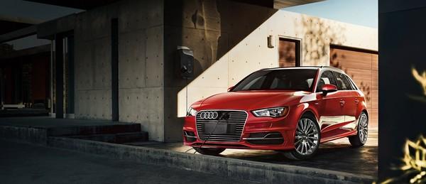 Audi A3 Sportback e-tron on charge