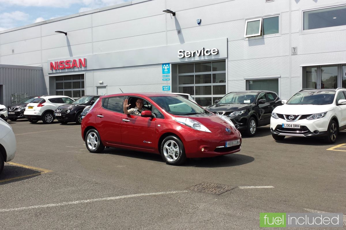 Nissan Leaf collection in St Albans (Image: T. Larkum)