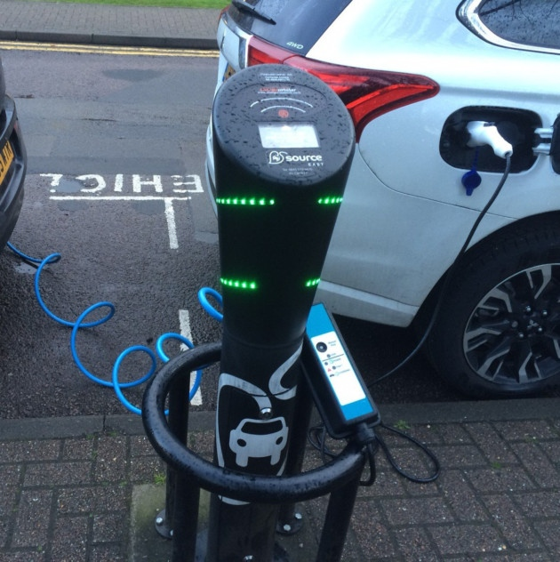 The use of electric vehicle charging points in St Albans has quadrupled in a year