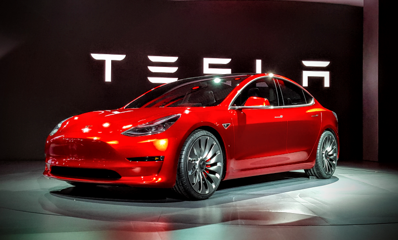 Tesla Model 3 at launch (Image: K. Field/CC)