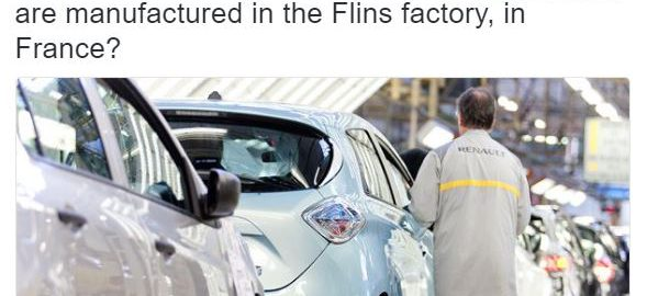 Renault ZOE Production