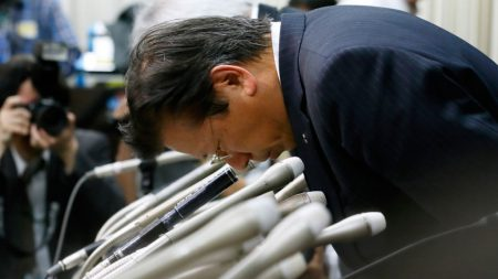 Mitsubishi Motors president Tetsuro Aikawa is in the firing line