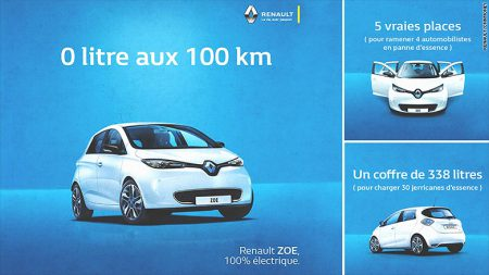 A look at Renault's new marketing campaign for the Zoe model in France