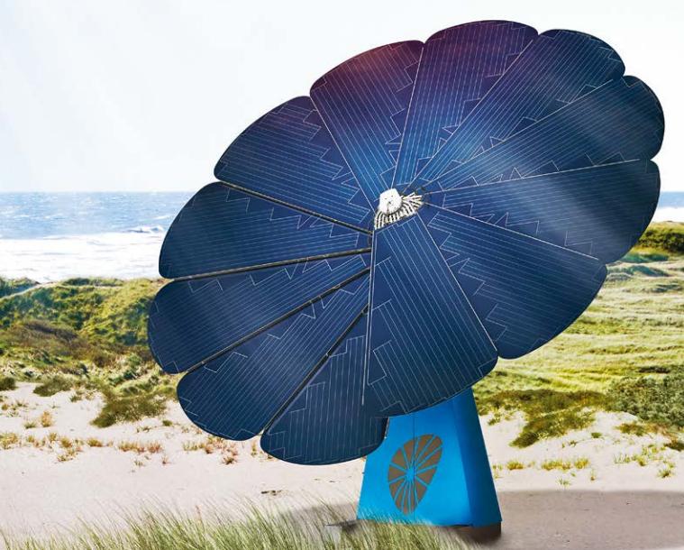 SmartFlower solar PV (Image: Green-Mole)
