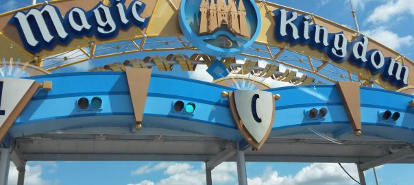 The welcoming entrance of Disney's magic kingdom (Image: L. Larkum)