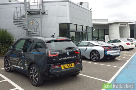 BMW i3 at Wollaston BMW, Northampton (Image: T. Larkum)