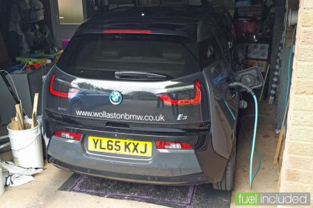 The i3 trying out our garage (Image: T. Larkum)