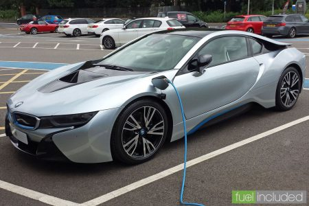 BMW i8 on charge (Image: T. Larkum)