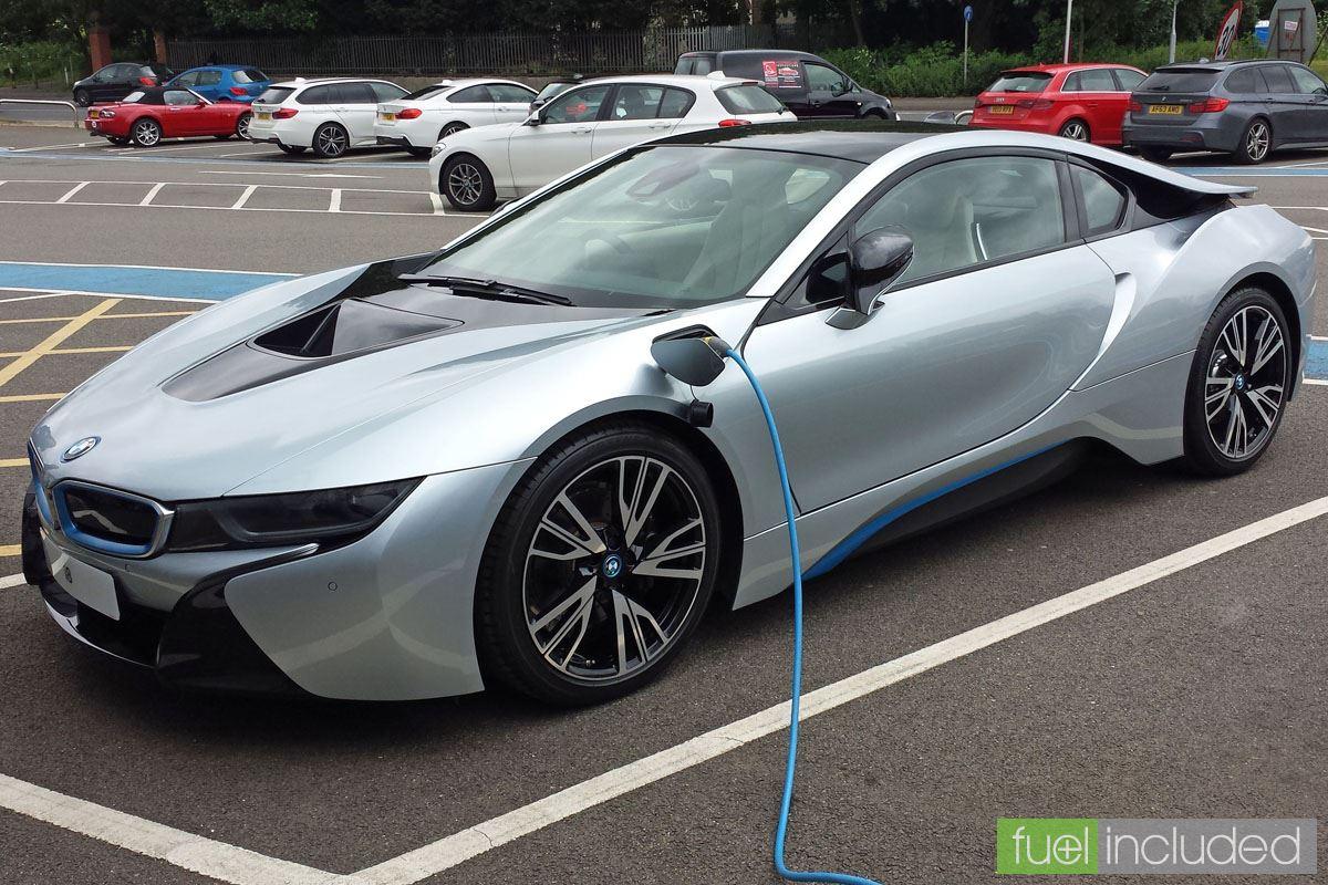 BMW i8 on charge (Image: T. Larkum)