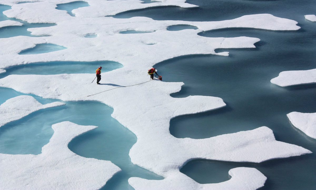 An area of Arctic sea ice about twice the size of Texas has vanished over the last 30 years, and the rate of that retreat has accelerated (Image: NASA/Reuters)