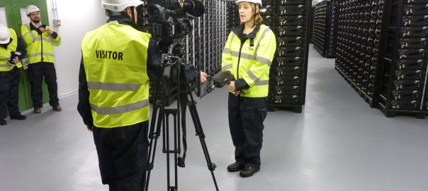 DECC Minister Amber Rudd visits UK Power Networks 'Big Battery', in Leighton Buzzard (Image: DECC)