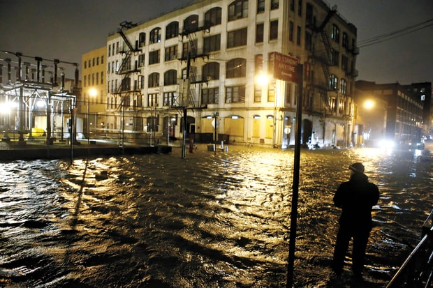 Hurricane Sandy flooded huge parts of Lower Manhattan and downtown Brooklyn (Image: J. Countess/Redux)