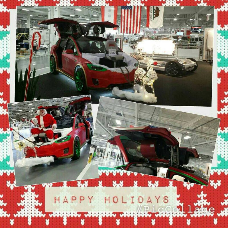 Santa's new electric sleigh, based on a Model X (Image: Tesla Motors)