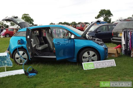 The Fuel Included i3 on show at the Holcot Car Boot Sale (Image: T. Larkum)