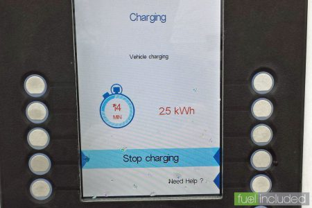 2.5kWh charge after 14 minutes (Image: T. Larkum)