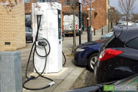 One of the many Polar rapid charge points around Milton Keynes, this one is in Central MK (Image: T. Larkum)