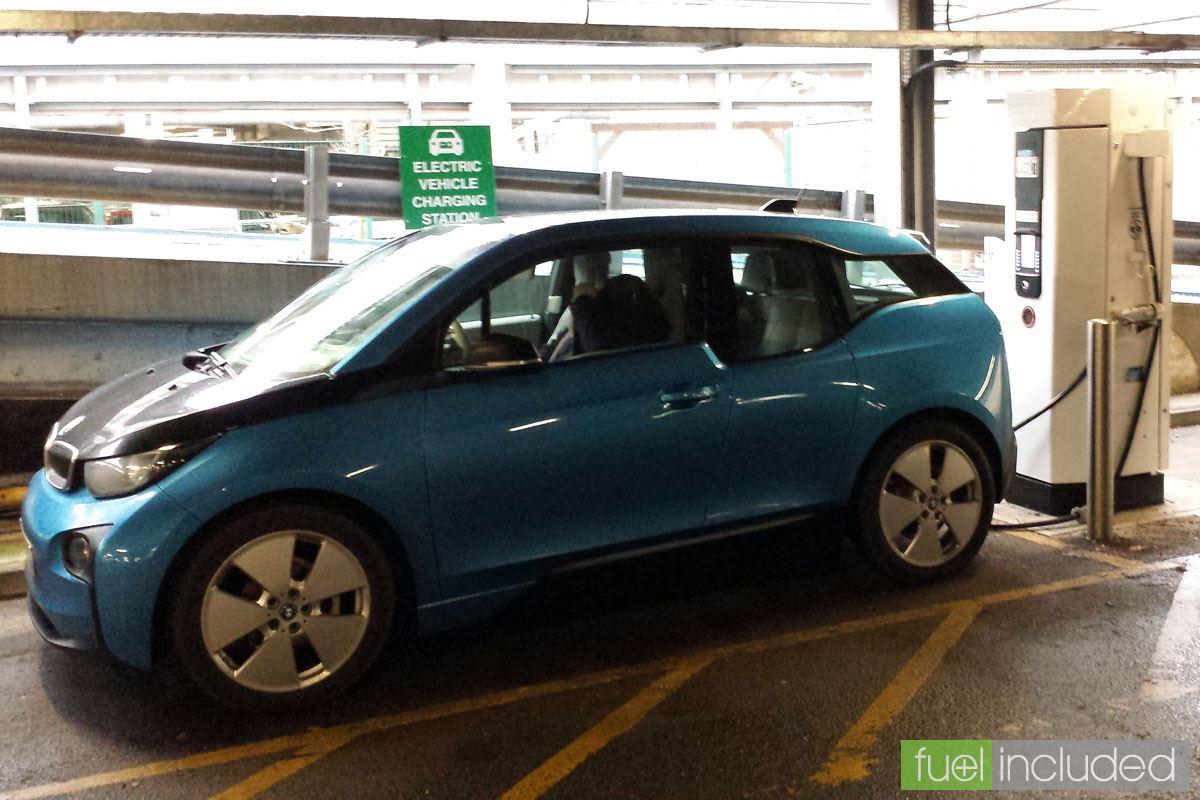 i3 charging at Frimley Hospital (Image: T. Larkum)