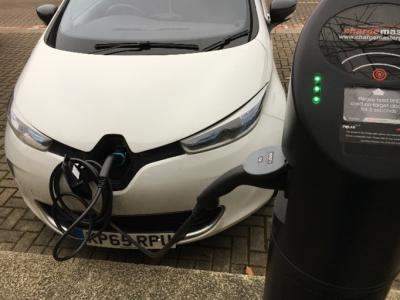 Charging my Renault ZOE in Milton Keynes (Image: J. Pegram-Mills)