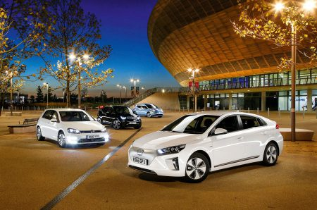 Hyundai Ioniq, Volkswagen E-Golf, BMW i3 vs Nissan Leaf - electric vehicle group test (Image: Autocar)