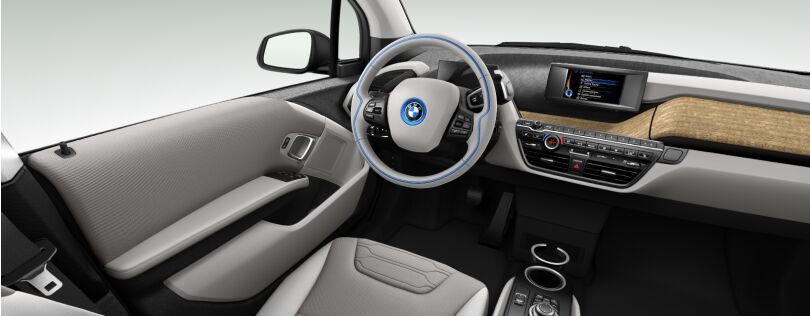 BMW i3 interior: Loft interior world with optional Eucalyptus trim (Image: BMW.co.uk)