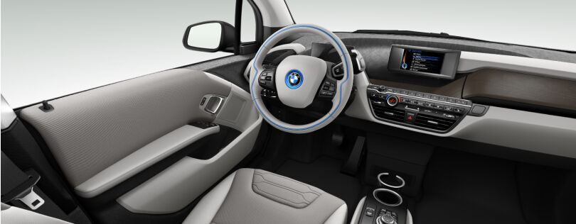 BMW i3 interior: Loft interior world with optional Oak trim (Image: BMW.co.uk)