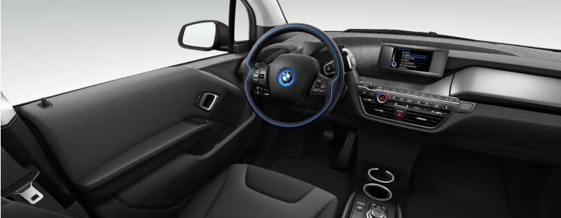 BMW i3 interior: Atelier interior world with Andesit Silver trim (Image: BMW.co.uk)