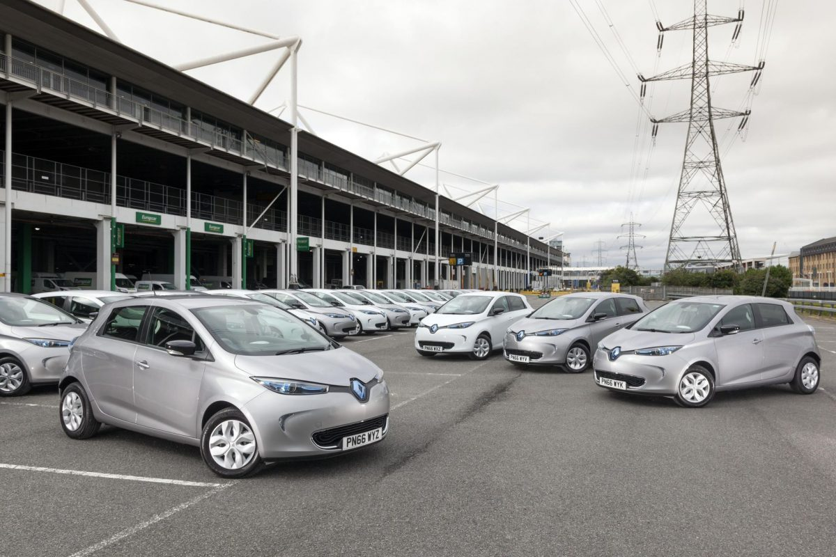 The Renault ZOEs at the Europcar Mobility Centre, ExCeL London