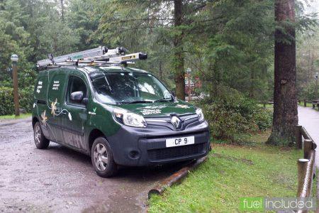 CenterParcs' All-Electric Renault Kangoo ZE Van (Image: T. Larkum)