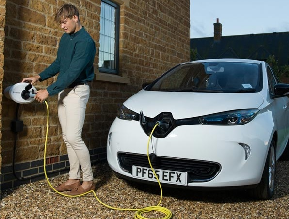 Home Charging a Renault ZOE with a Dedicated Charge Point (Image: Charging Solutions)
