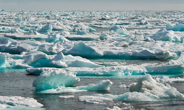 Ice covering the ocean surface along lower Baffin Island, in the Hudson Strait and the Labrador Sea (Image:: K. Calvo/National Geographic/Alamy)