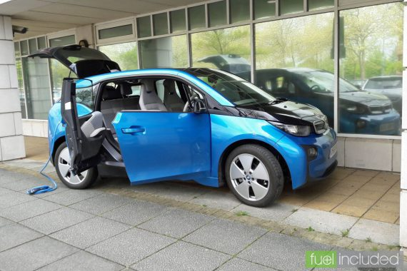 Fuel Included BMW i3 on static display (Image: T. Larkum)