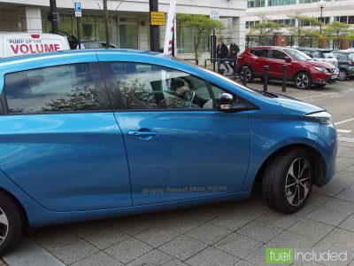 Renault ZOE at our test drive event in Milton Keynes (Image: J. Tisdall)