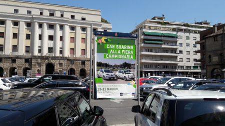Renault ZOE Car Sharing poster in Padua (Image: T. Larkum)