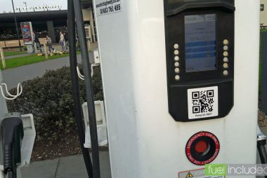Ecotricity rapid charger with LCD display (Image: T. Larkum)