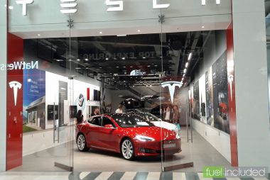 Tesla showroom in Milton Keynes (Image: T. Larkum)