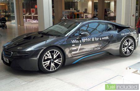 EVEC's BMW i8 plugin hybrid (Image: T. Larkum)
