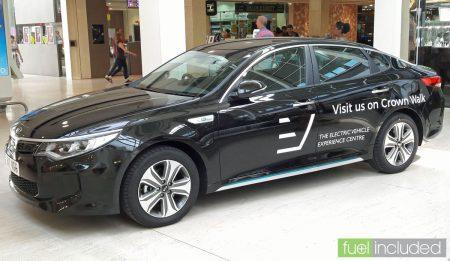 EVEC's Kia Optima plugin hybrid (Image: T. Larkum)