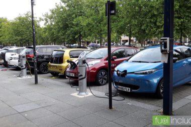 Electric cars charging in Milton Keynes (Image: T. Larkum)