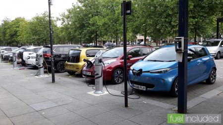Electric cars charging in Milton Keynes (Image: T. Larkum)