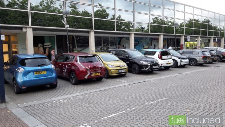 Electric cars ready for free test drives in Milton Keynes (Image: T. Larkum)