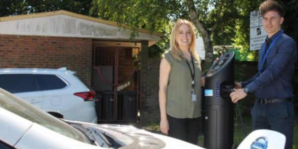 Second electric vehicle charge point installed in Daventry
